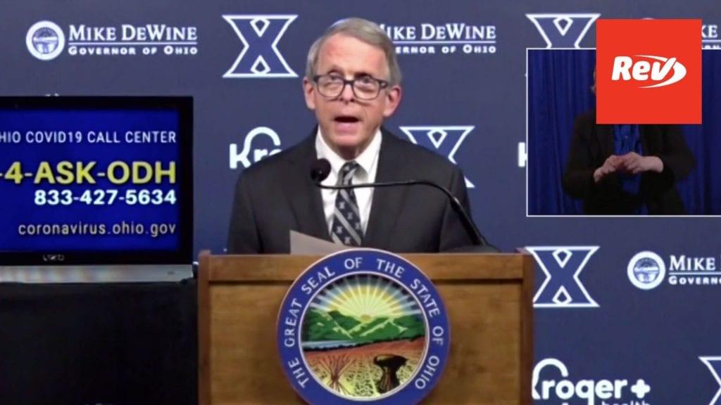 Ohio Gov. Mike DeWine COVID-19 Press Conference Transcript March 18
