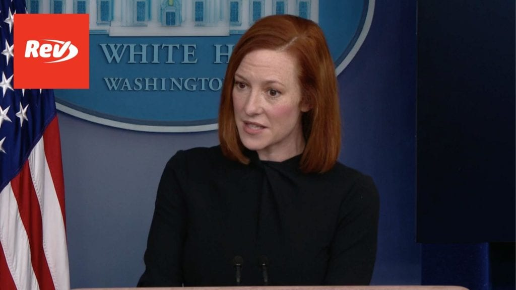 Press Secretary Jen Psaki White House Press Conference Transcript March 1