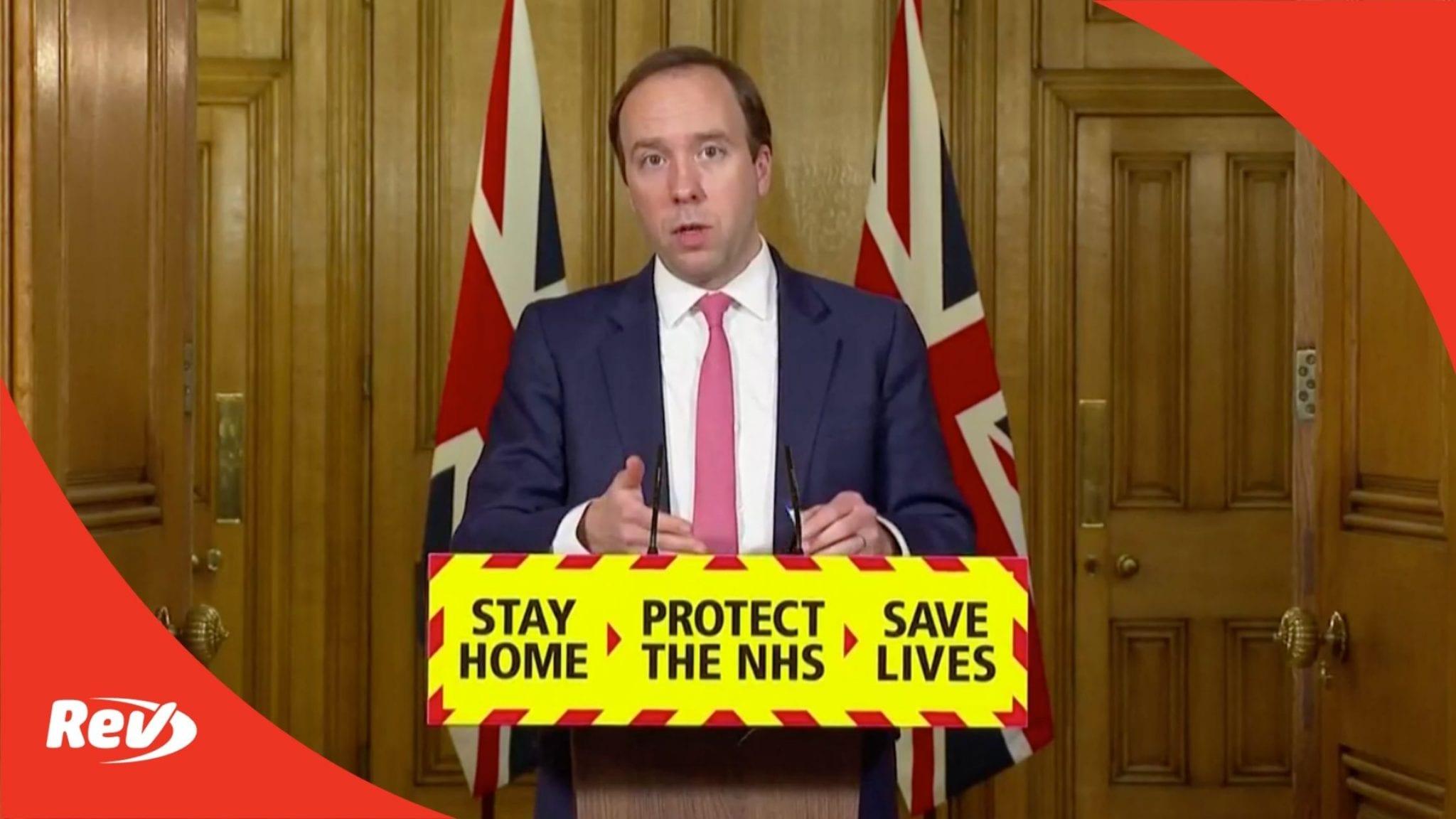 UK Downing Street Coronavirus Press Conference with Matt Hancock Transcript March 1