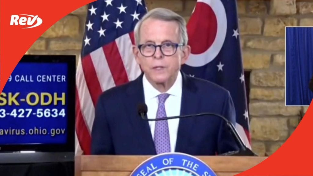 Ohio Gov. Mike DeWine COVID-19 Press Conference Transcript March 1