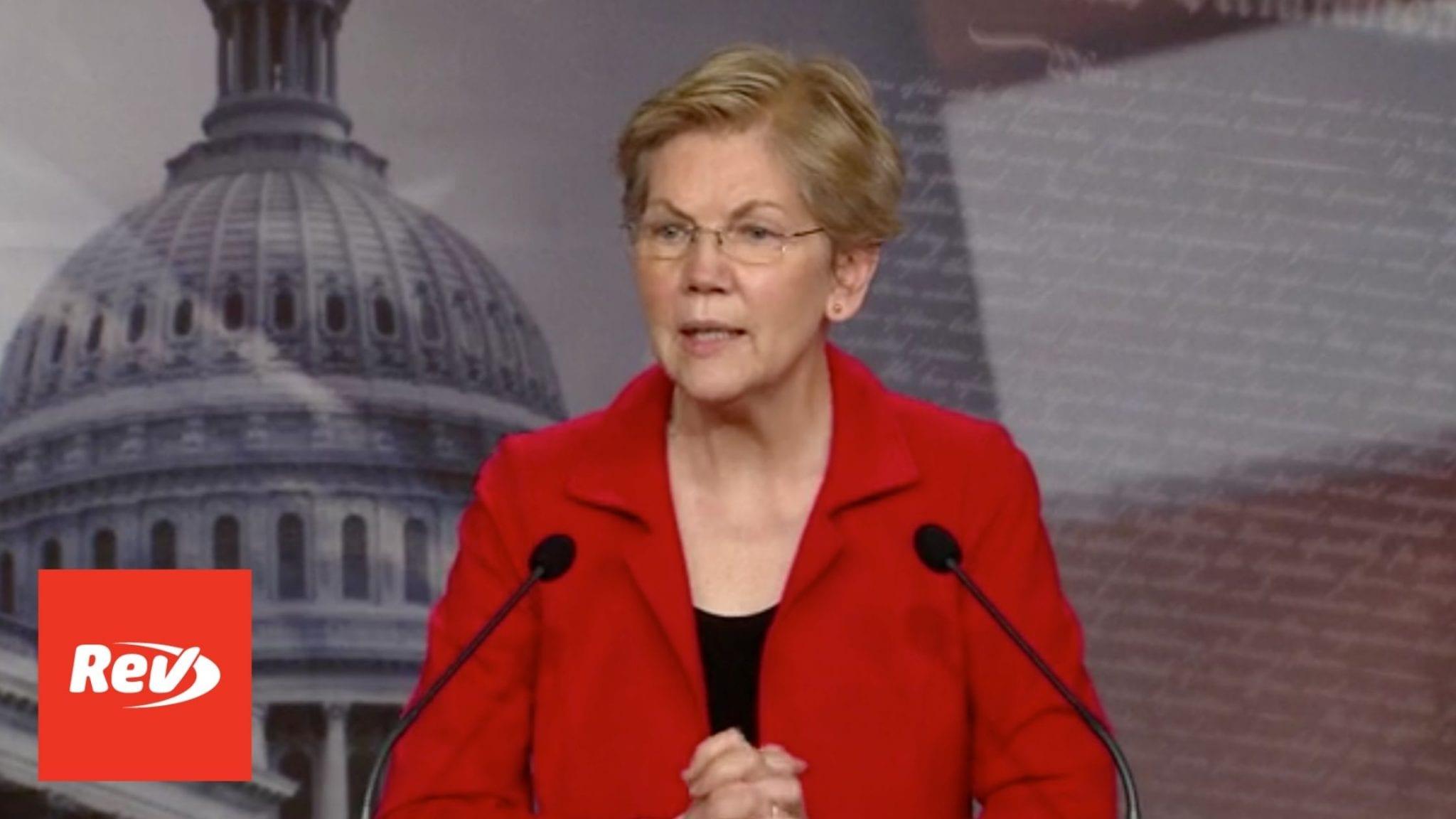 Elizabeth Warren Press Conference on Ultra-Millionaire Tax Act Transcript March 1