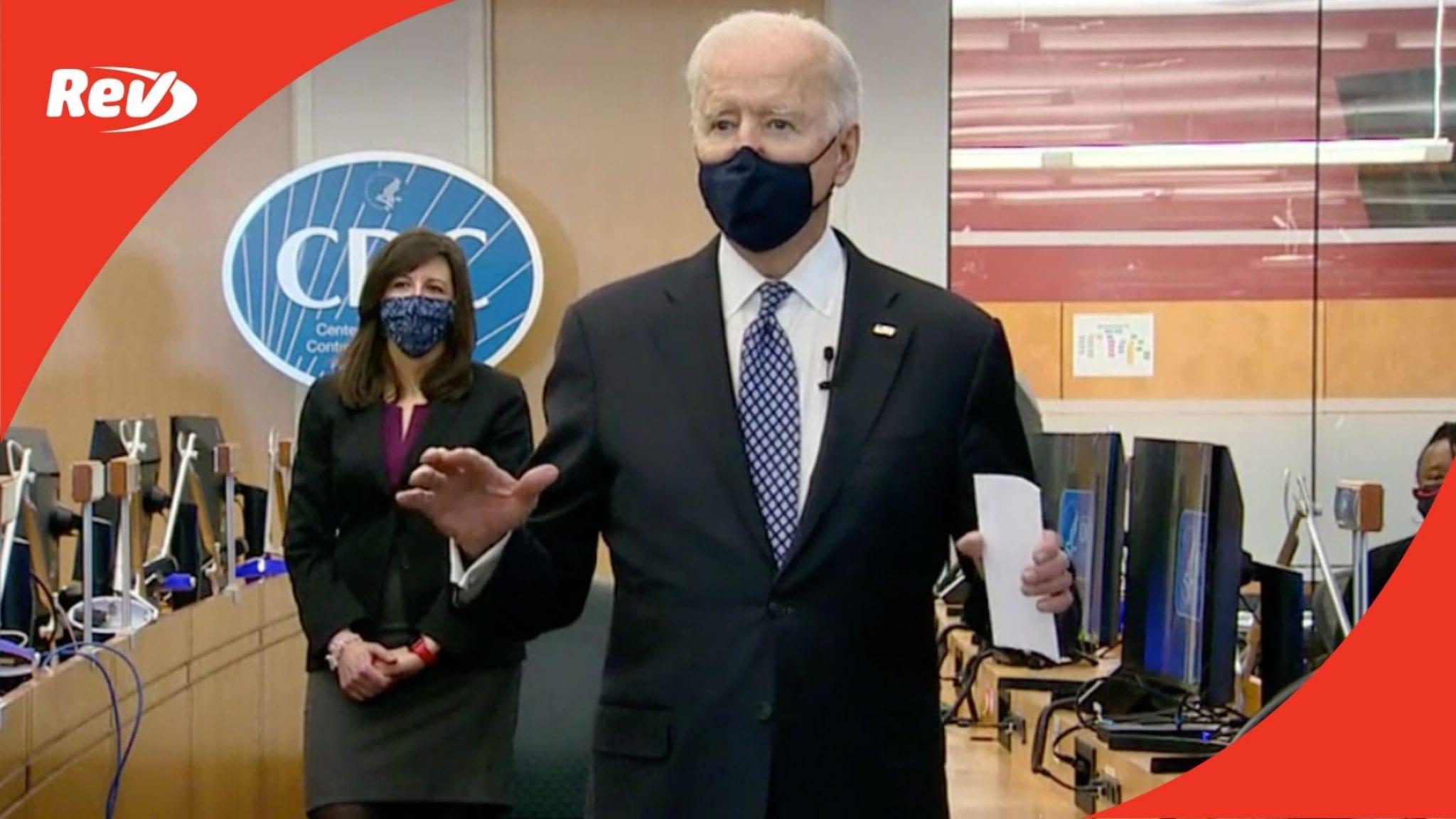 Joe Biden & Kamala Harris Visit CDC Atlanta Speeches Transcript March 19