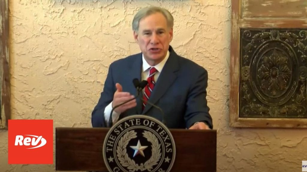 Texas Gov. Greg Abbott Press Conference Transcript March 2: Lifts Mask Mandate, Open Texas 100%