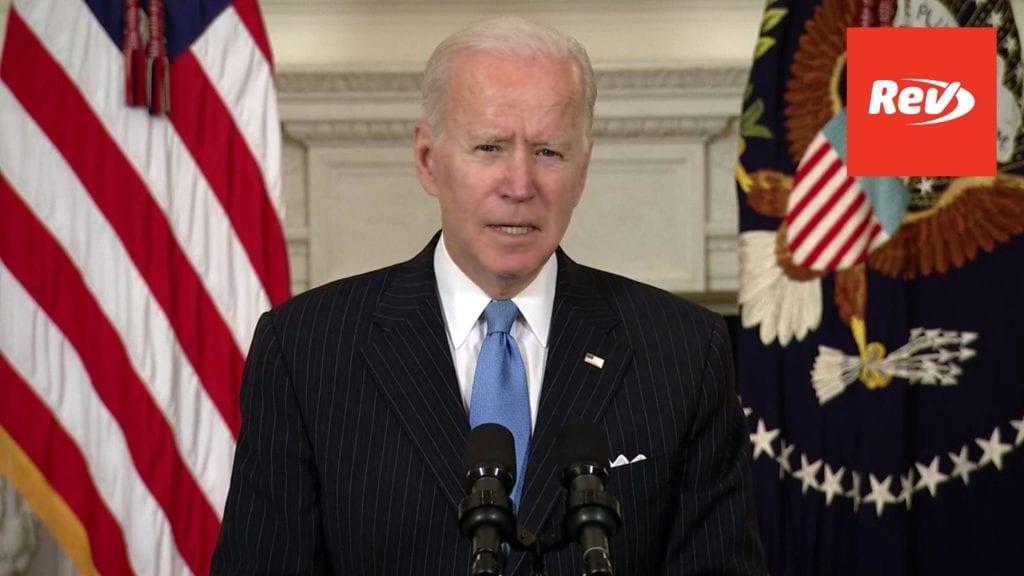 Joe Biden Speech on COVID-19 Pandemic & Vaccine Distribution Transcript March 2