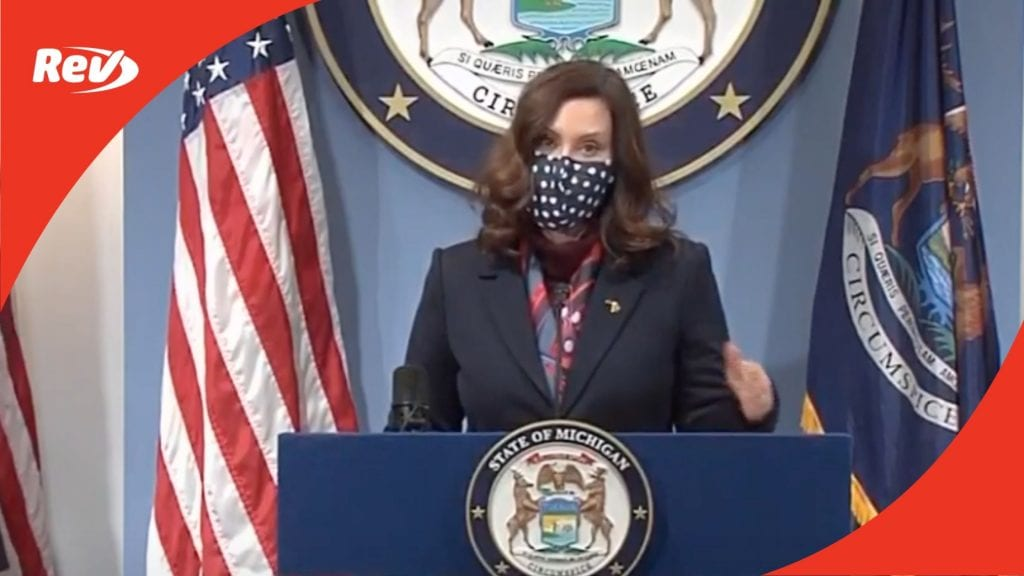 Michigan Governor Gretchen Whitmer COVID-19 Press Conference Transcript March 2