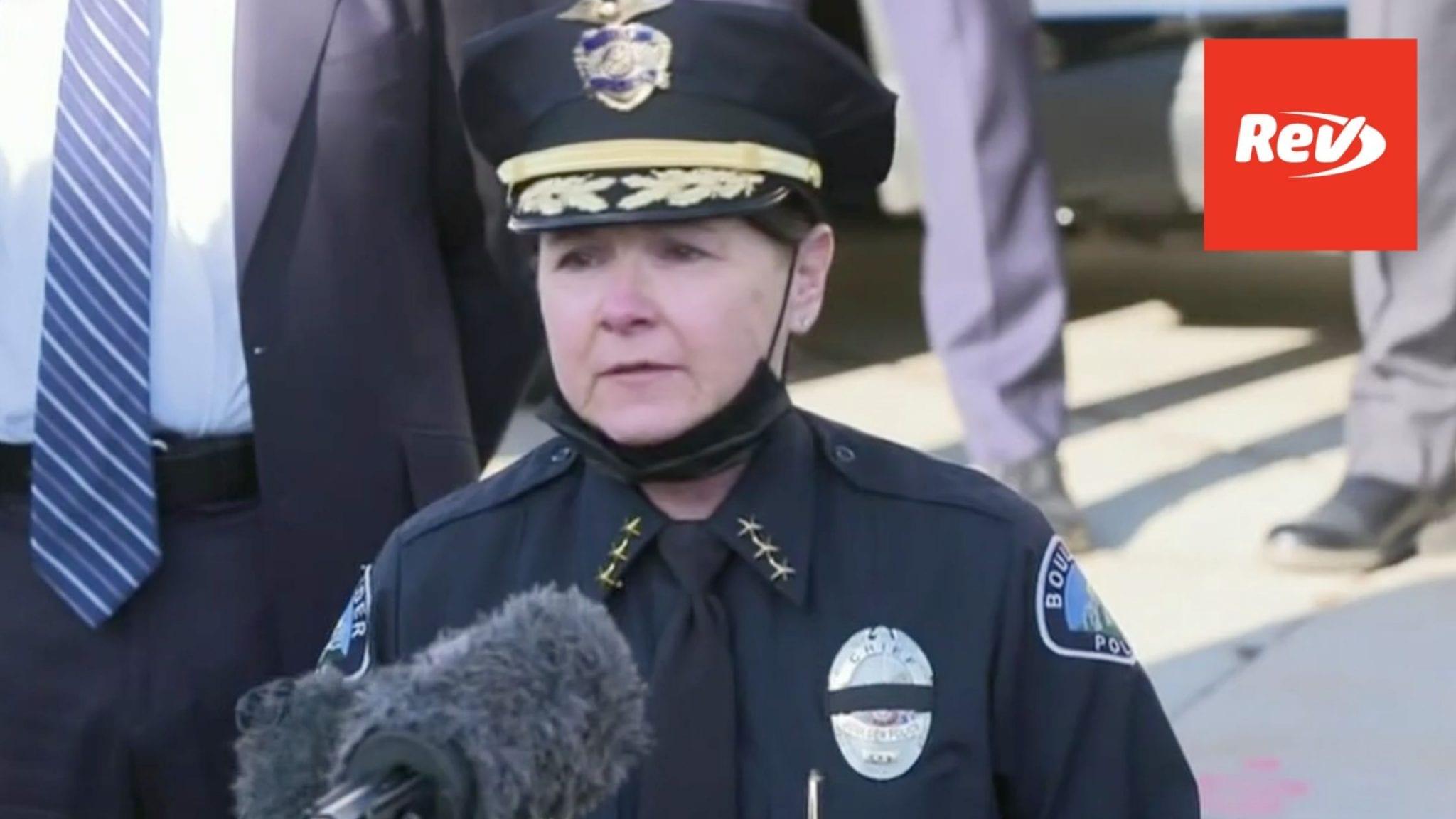 Boulder Police Press Conference Transcript on Supermarket Shooting March 23