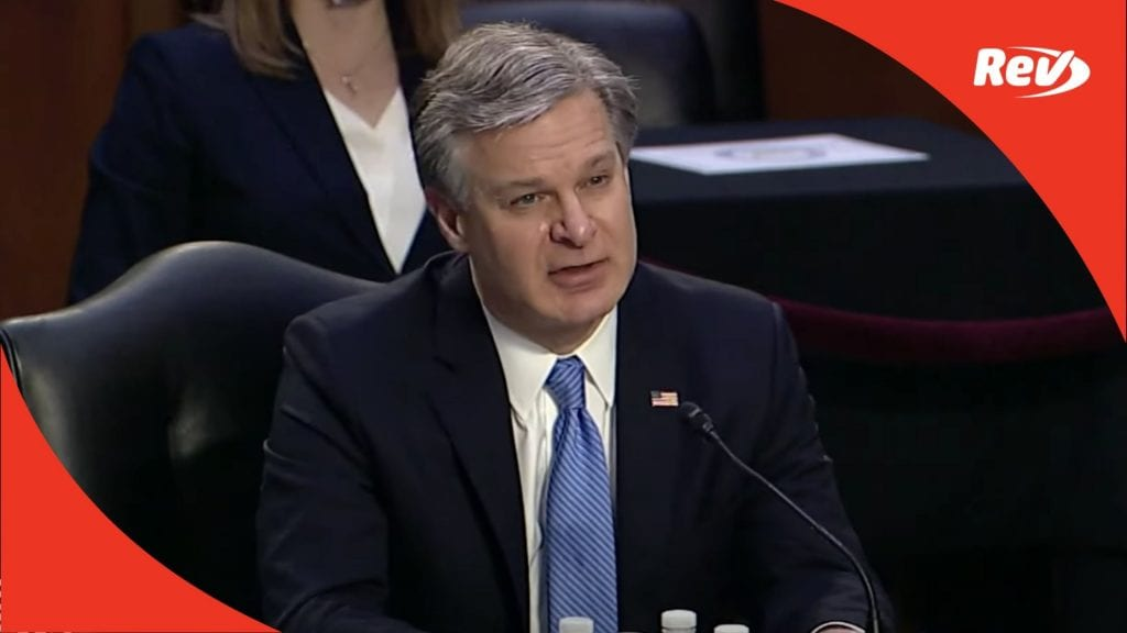 FBI Director Christopher Wray Testifies on January 6 Capitol Attack Full Hearing Transcript March 2