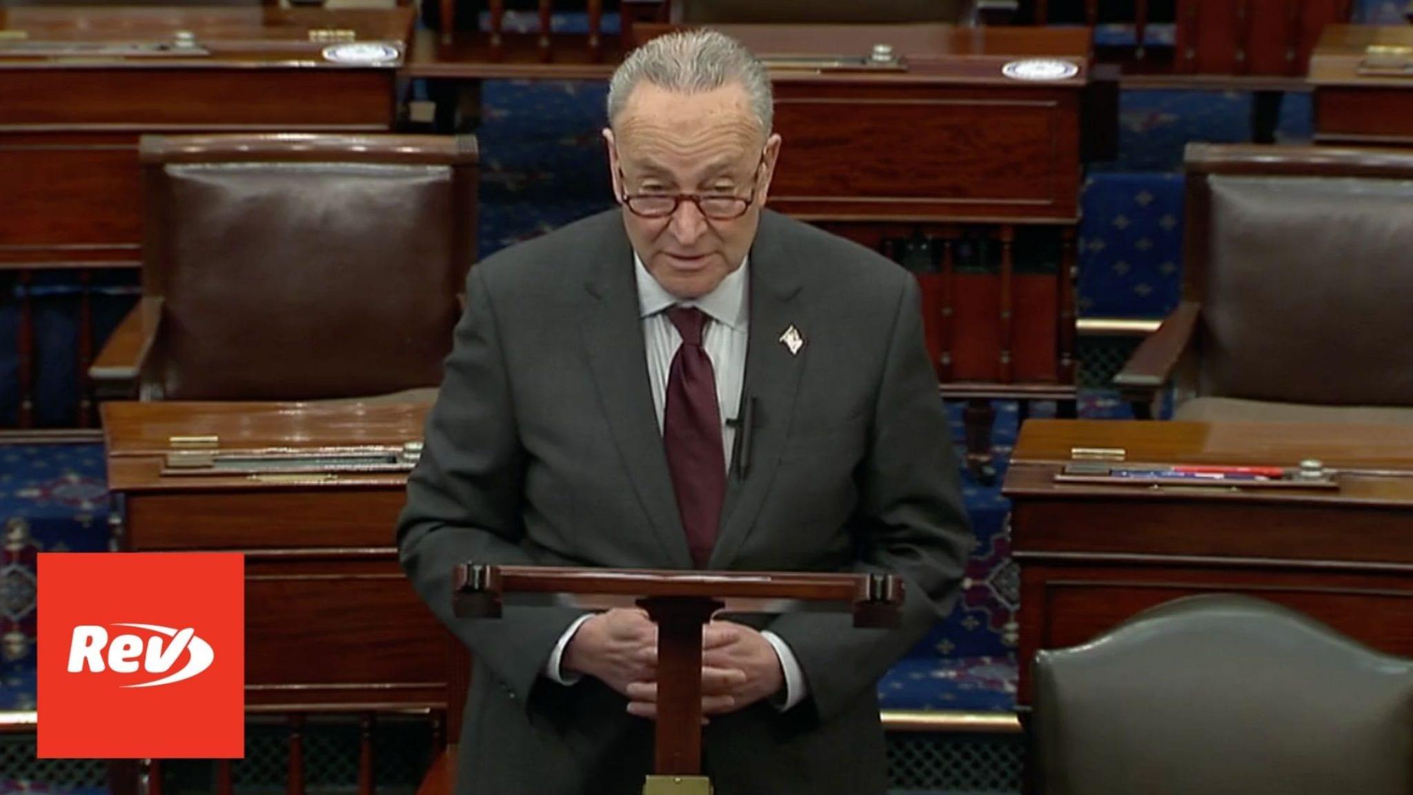 Chuck Schumer Senate Floor Speech Transcript on Gun Violence March 23