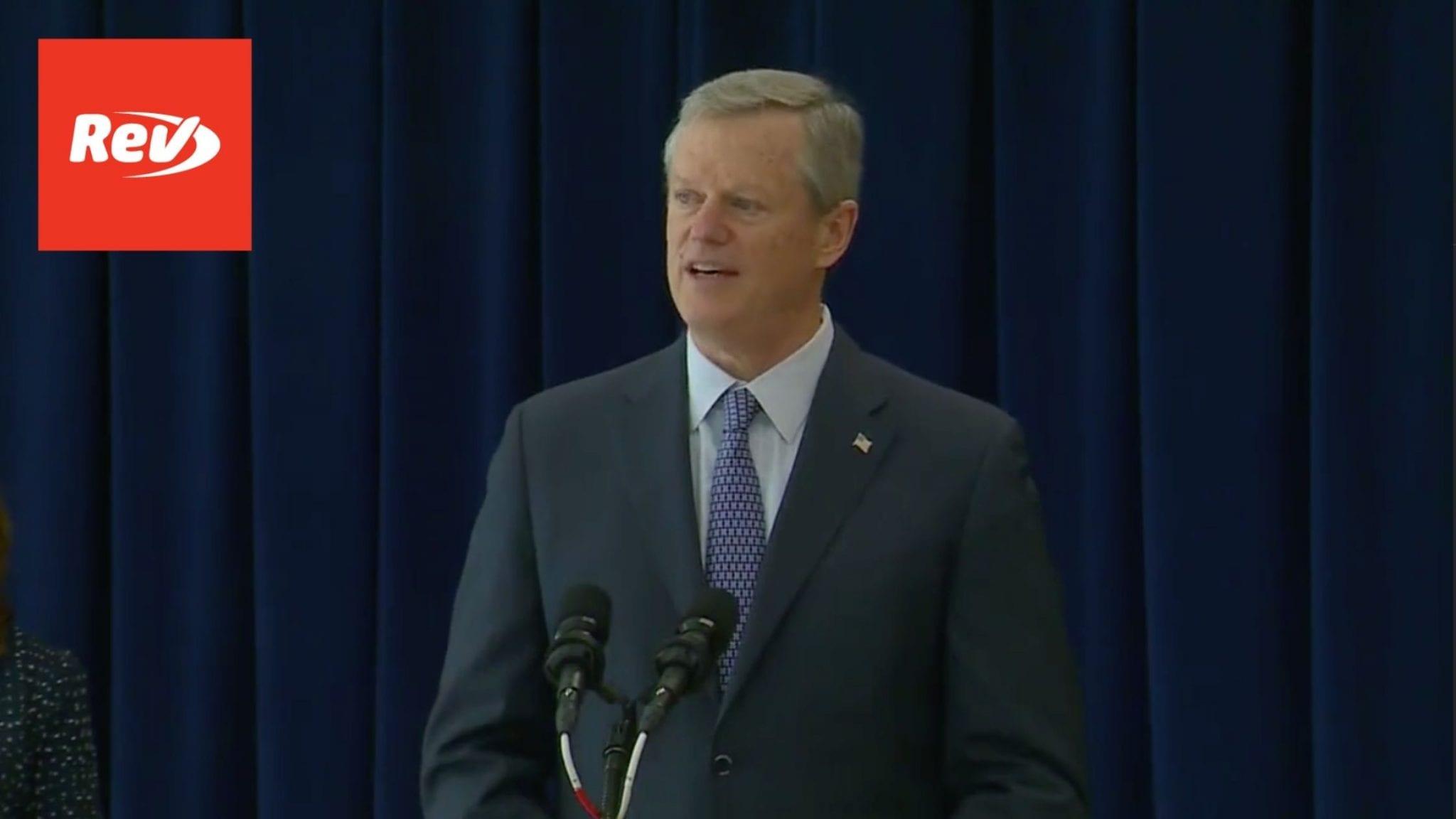 Massachusetts Governor Charlie Baker Press Conference Transcript March 3