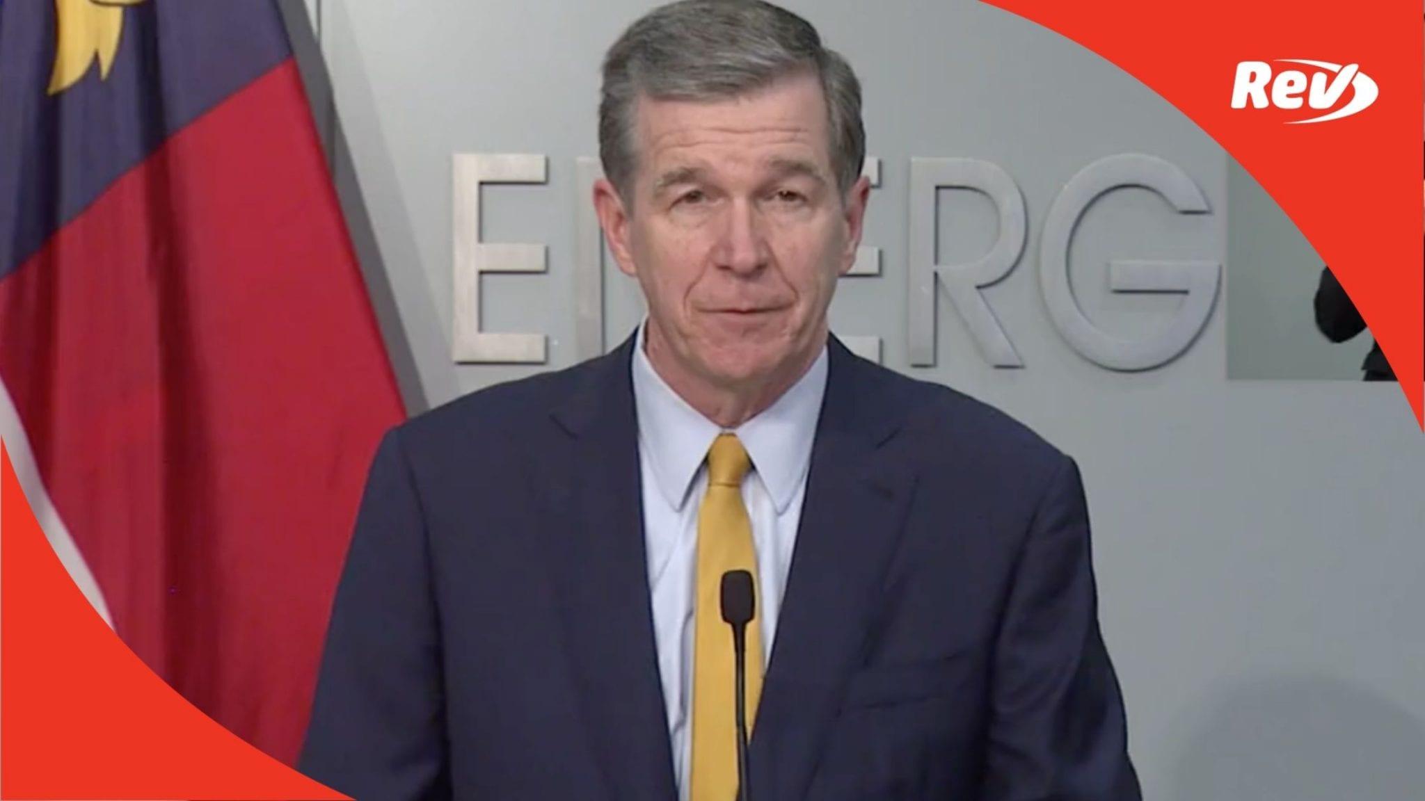 North Carolina Gov. Roy Cooper COVID-19 Press Conference Transcript March 23