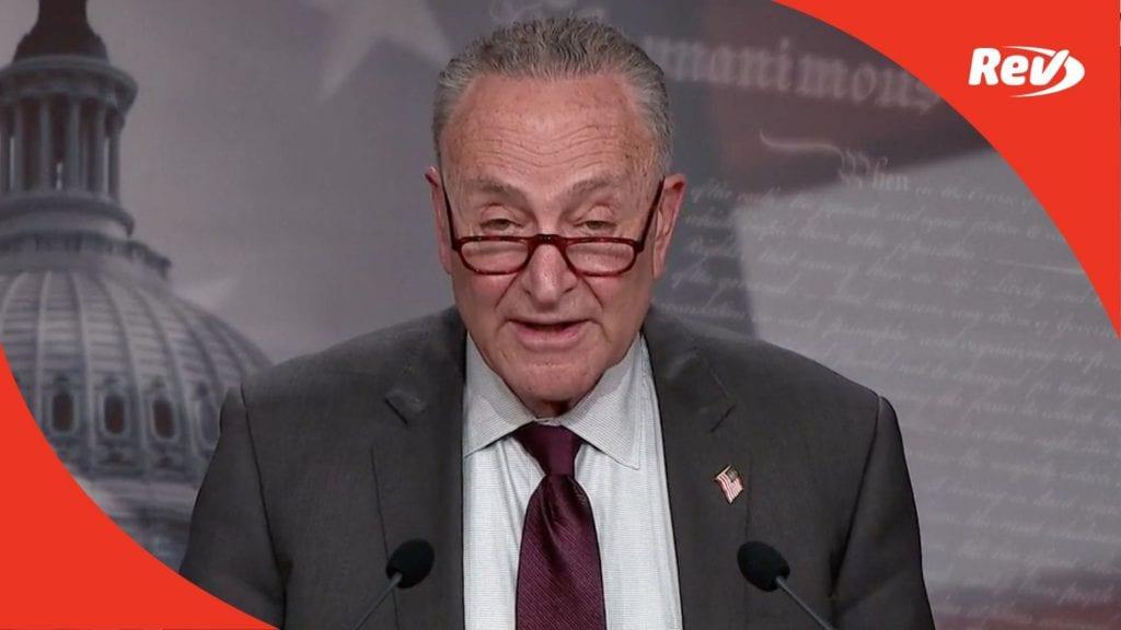 Chuck Schumer, Senate Democrats Press Conference Transcript March 23