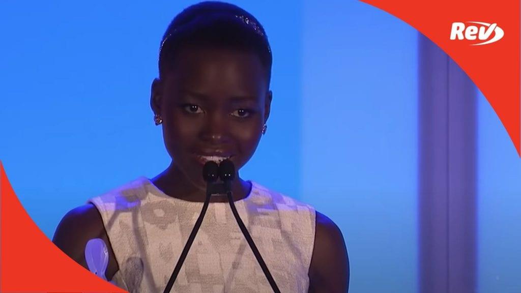 Lupita Nyong'o Speech on Black Women in Hollywood 2014 Transcript