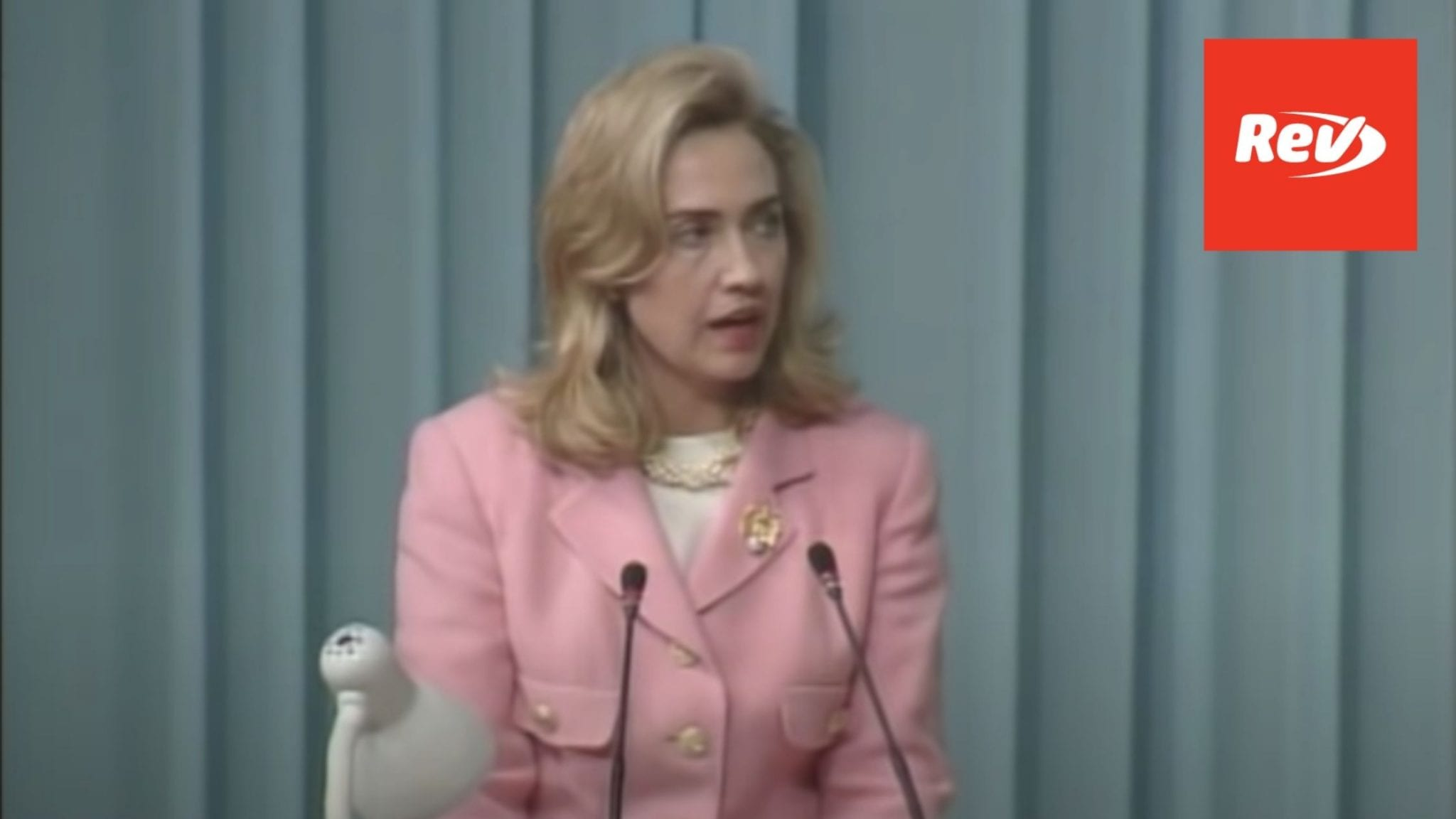 """Hillary Clinton """"Women's Rights are Human Rights"""" Speech at 1995 Women's Conference Beijing Transcript"""