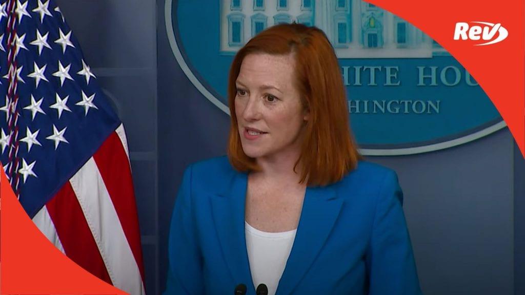 Press Secretary Jen Psaki White House Press Conference Transcript March 24