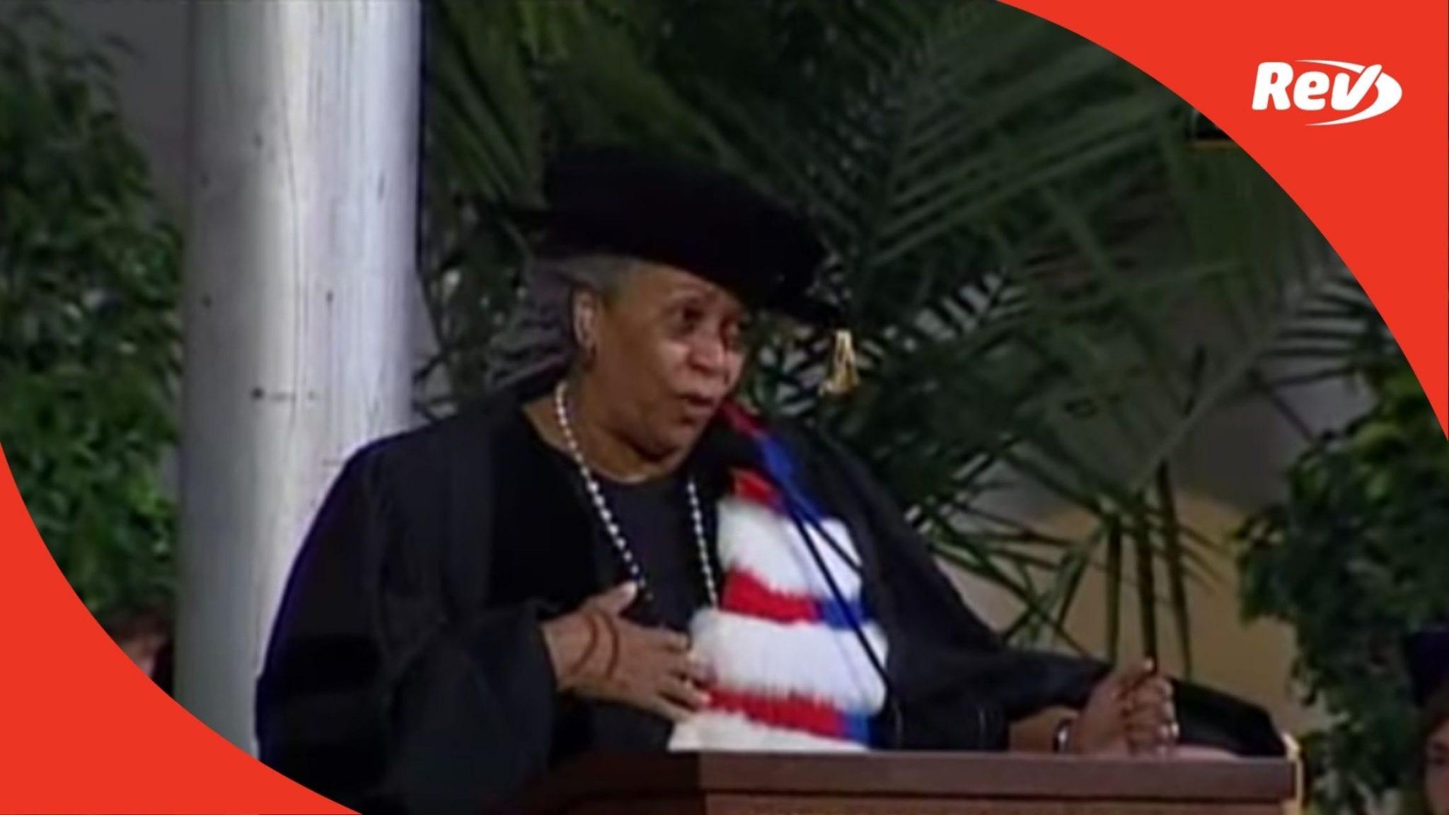 Toni Morrison 2004 Wellesley Commencement Address Speech Transcript