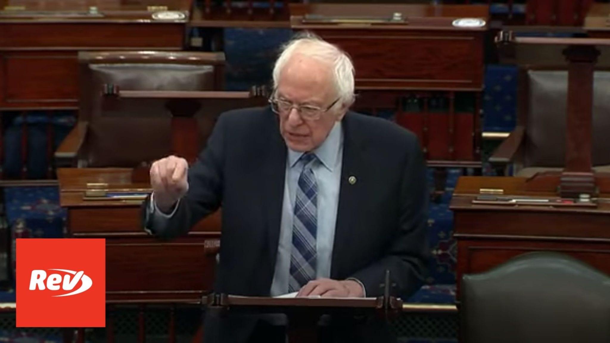 Bernie Sanders Senate Floor Speech on Minimum Wage Transcript March 5