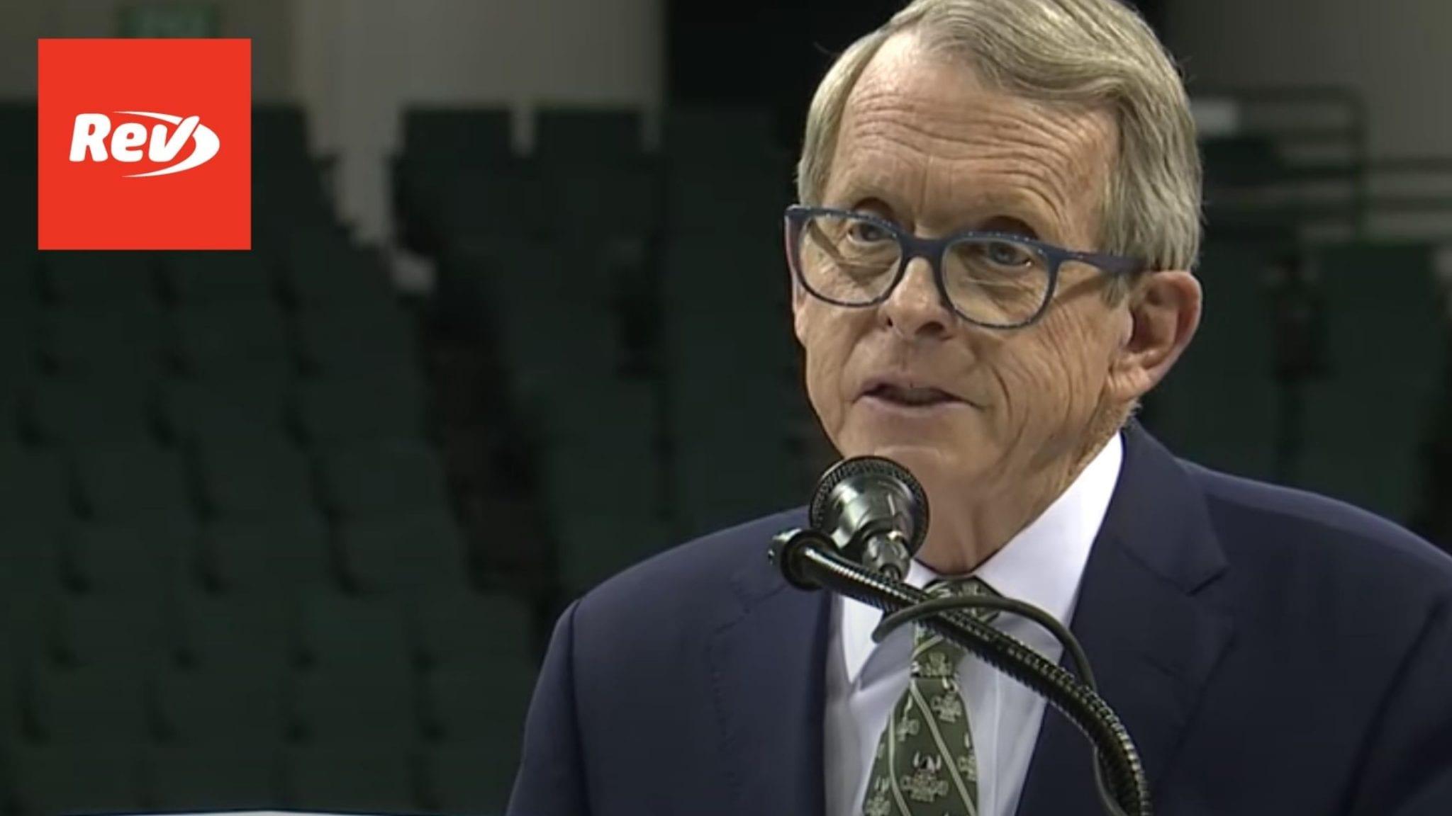 Ohio Gov. Mike DeWine COVID-19 Press Conference Transcript March 5