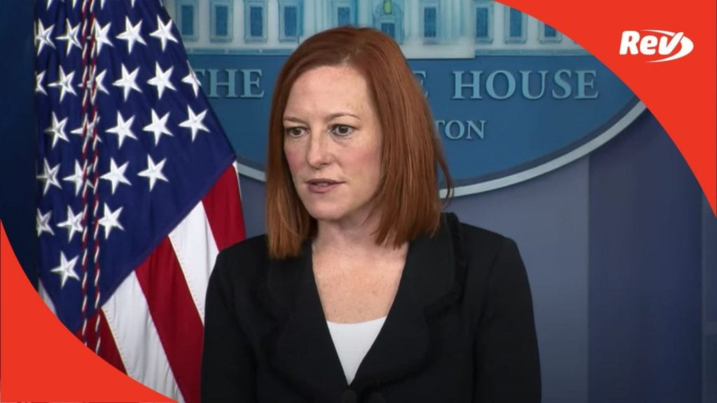 Press Secretary Jen Psaki White House Press Conference Transcript March 5