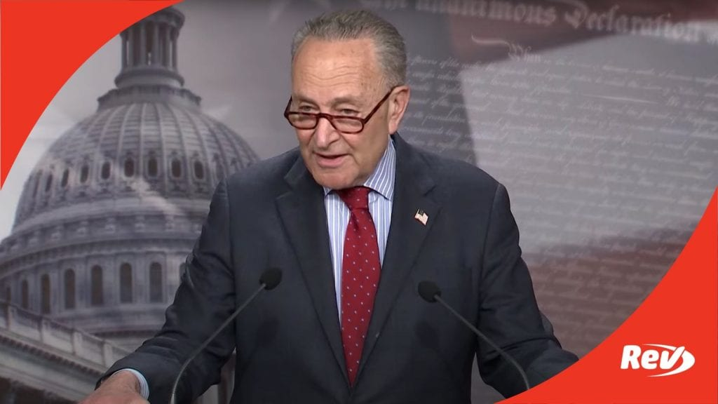 Senate Majority Leader Chuck Schumer Press Conference Transcript March 25