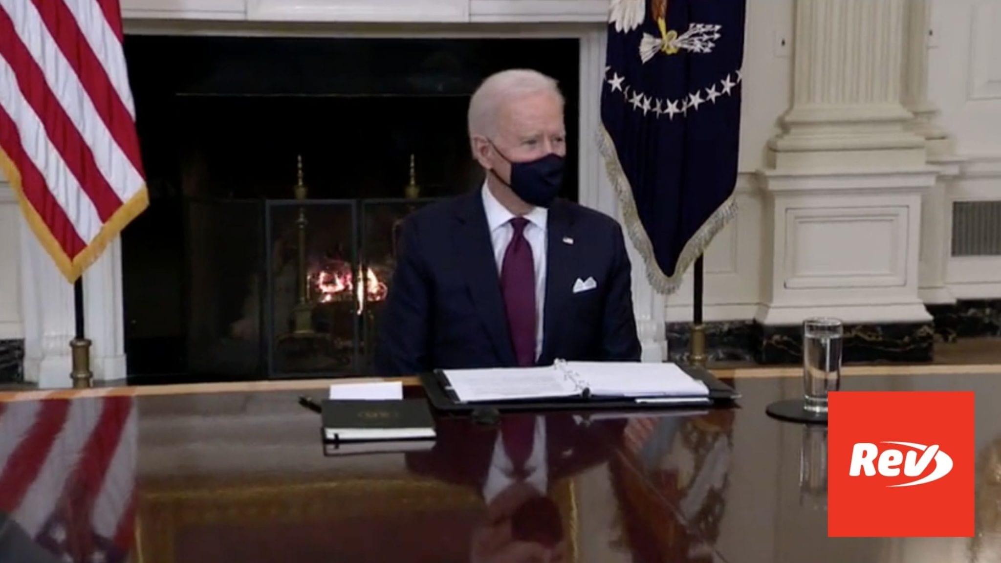 Joe Biden Speech at American Rescue Plan Roundtable Transcript March 5