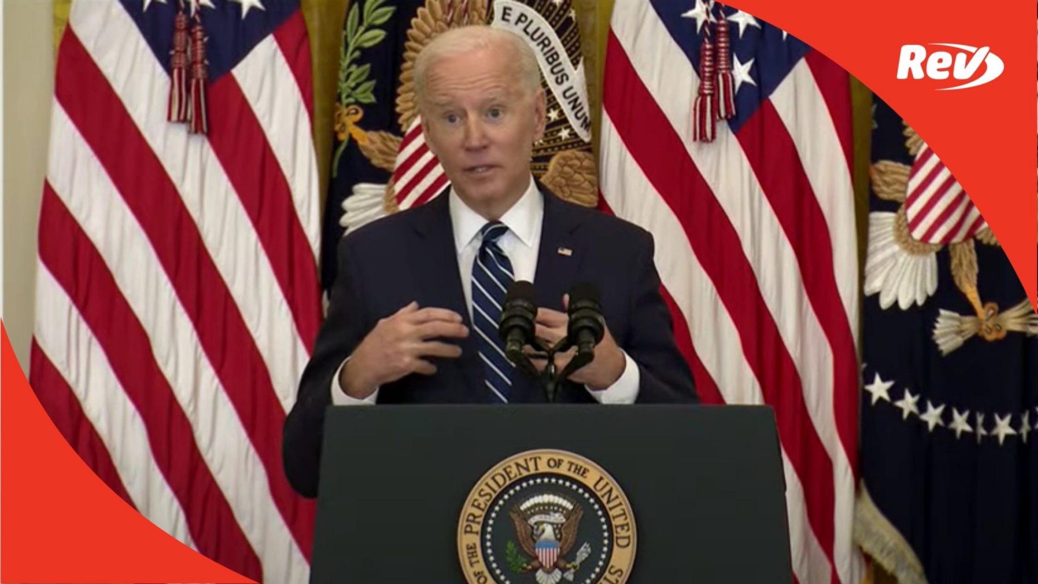 President Joe Biden First White House Press Conference Transcript March 25