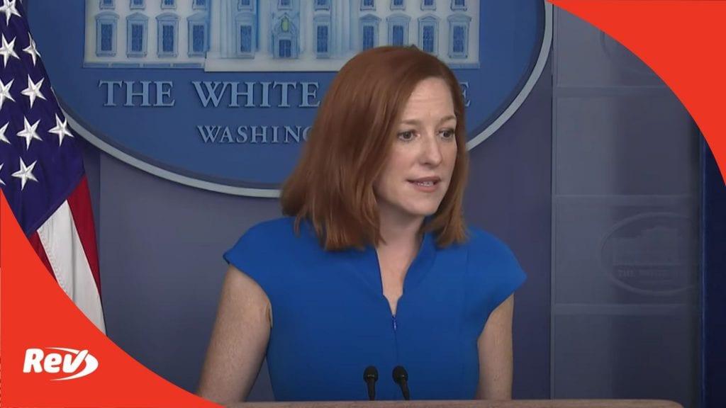 Press Secretary Jen Psaki White House Press Conference Transcript March 26