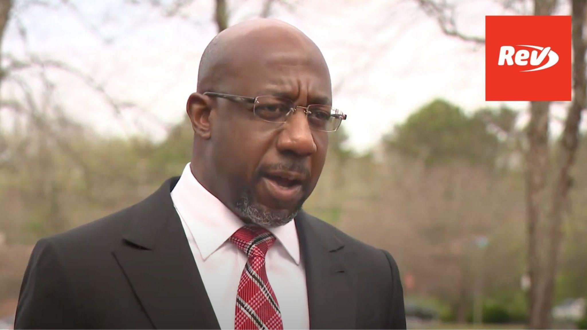 Senator Raphael Warnock Press Conference on New Georgia Voting Law Transcript March 26