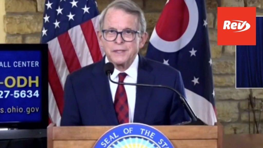Ohio Gov. Mike DeWine COVID-19 Press Conference Transcript March 8