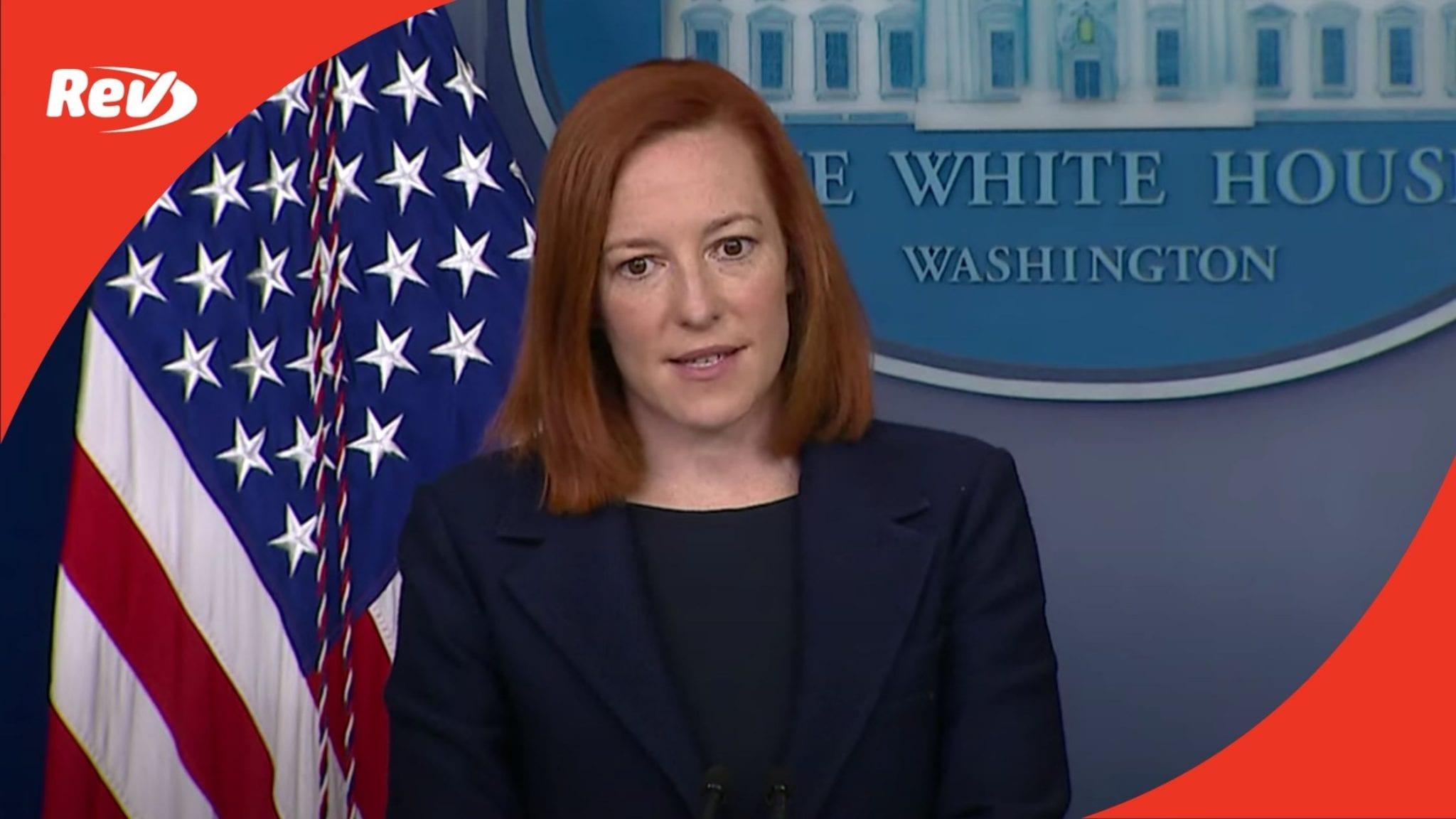 Press Secretary Jen Psaki White House Press Conference Transcript March 29