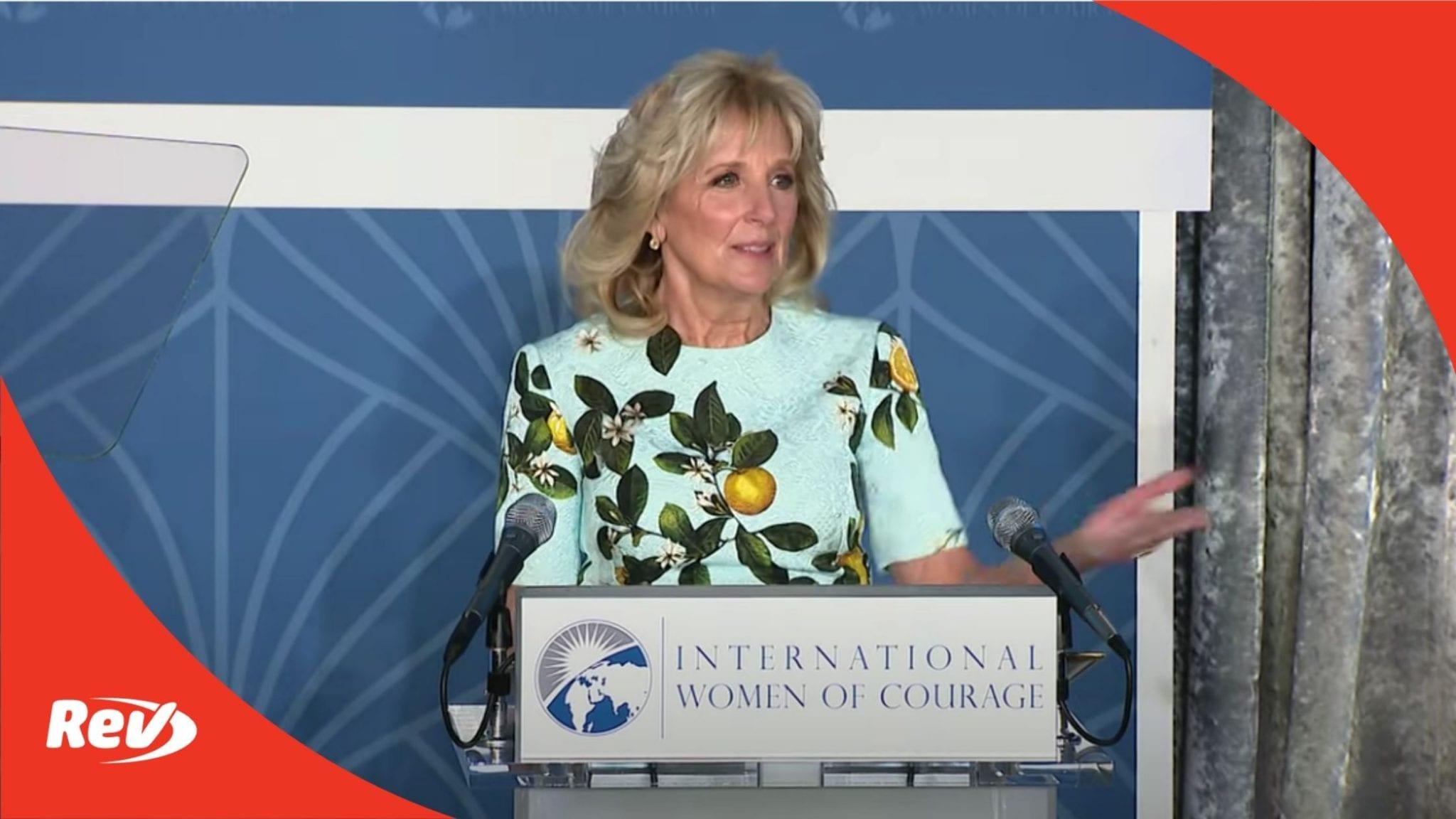 First Lady Jill Biden Speech on International Women's Day Transcript March 8