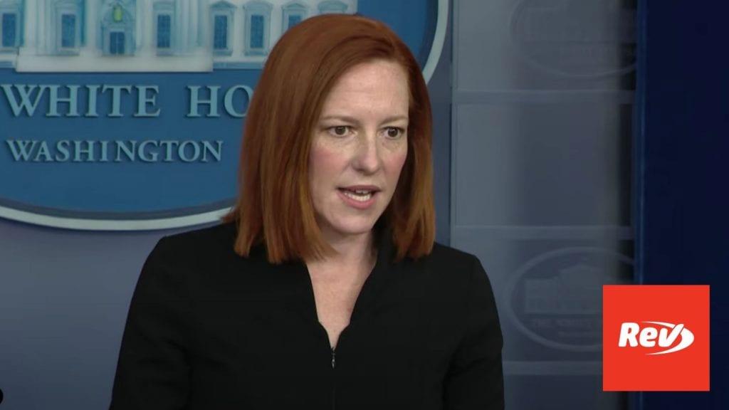 Press Secretary Jen Psaki White House Press Conference Transcript March 30