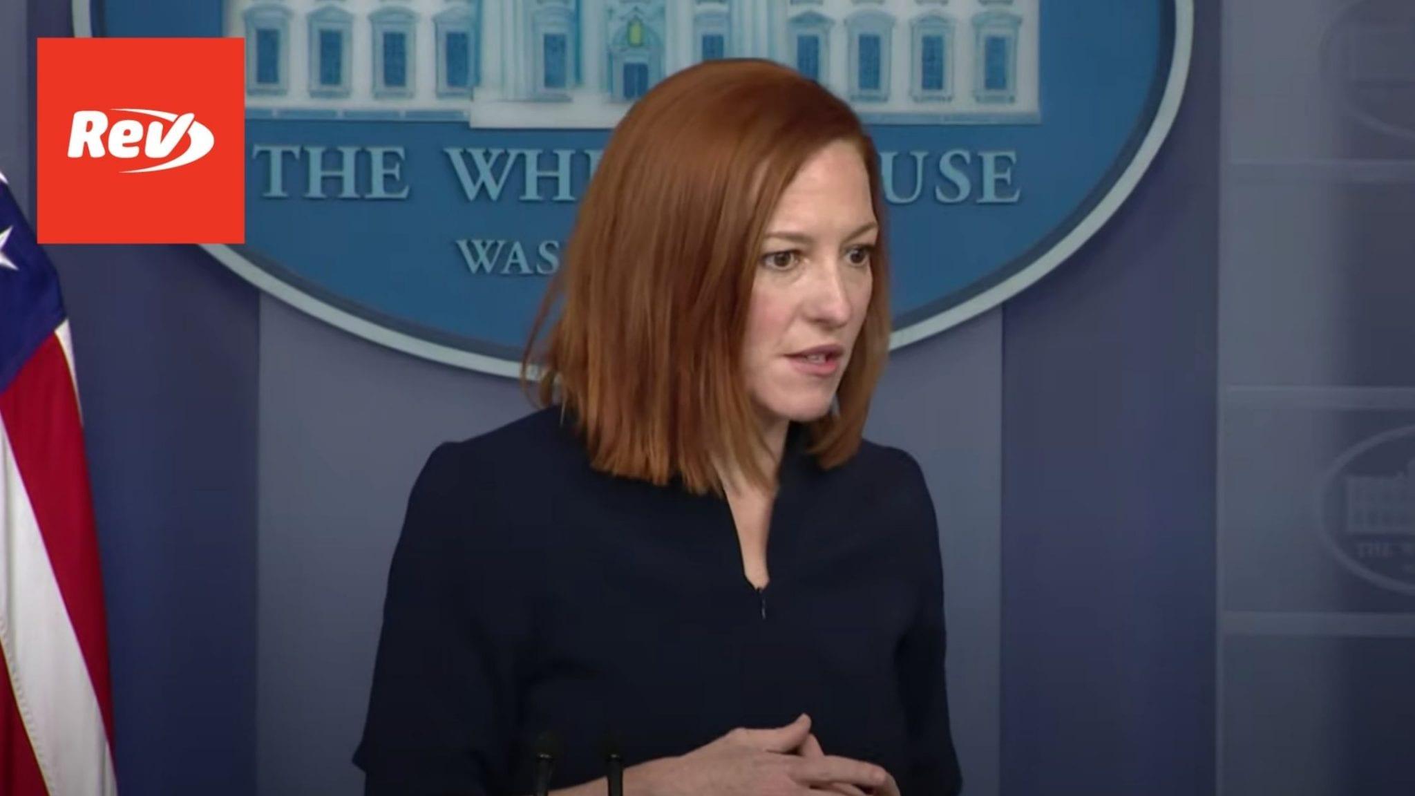 Press Secretary Jen Psaki White House Press Conference Transcript March 10