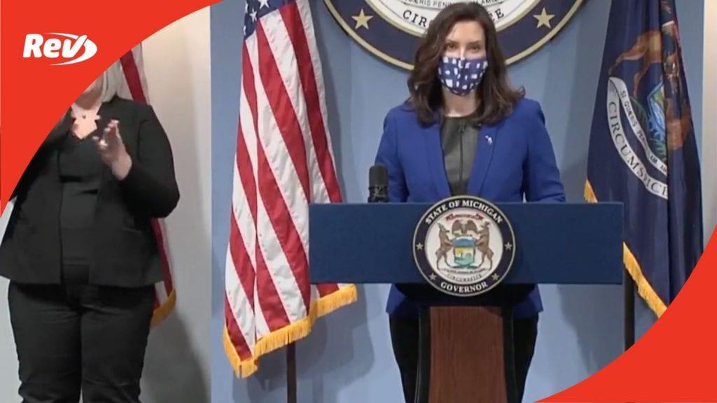Michigan Governor Gretchen Whitmer COVID-19 Press Conference Transcript March 10