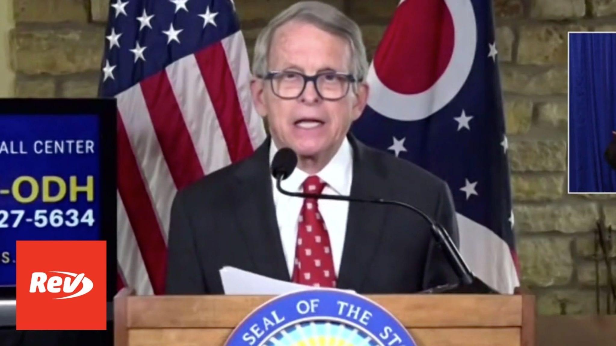 Ohio Gov. Mike DeWine COVID-19 Press Conference Transcript March 11