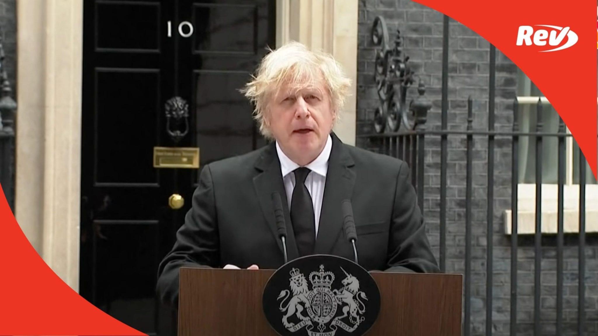 Boris Johnson Speech on Prince Philip Death