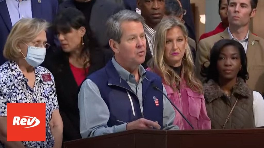 Brian Kemp Georgia Press Conference MLB Voting Law