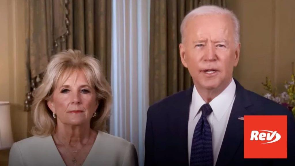 Joe Biden Jill Biden Easter Message