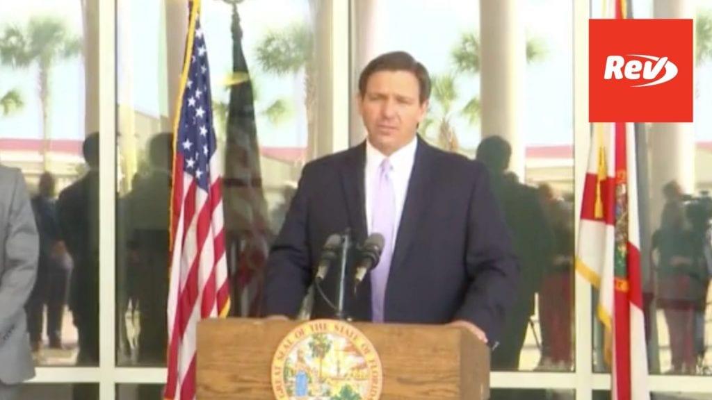 Florida Governor Ron DeSantis Press Conference Transcript April 6: Responds to 60 Minutes Segment on Publix, Vaccine Rollout