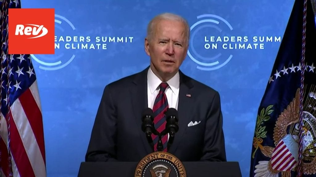 Joe Biden & Kamala Harris Earth Day Speech Transcript: Leaders Summit on Climate Session 1