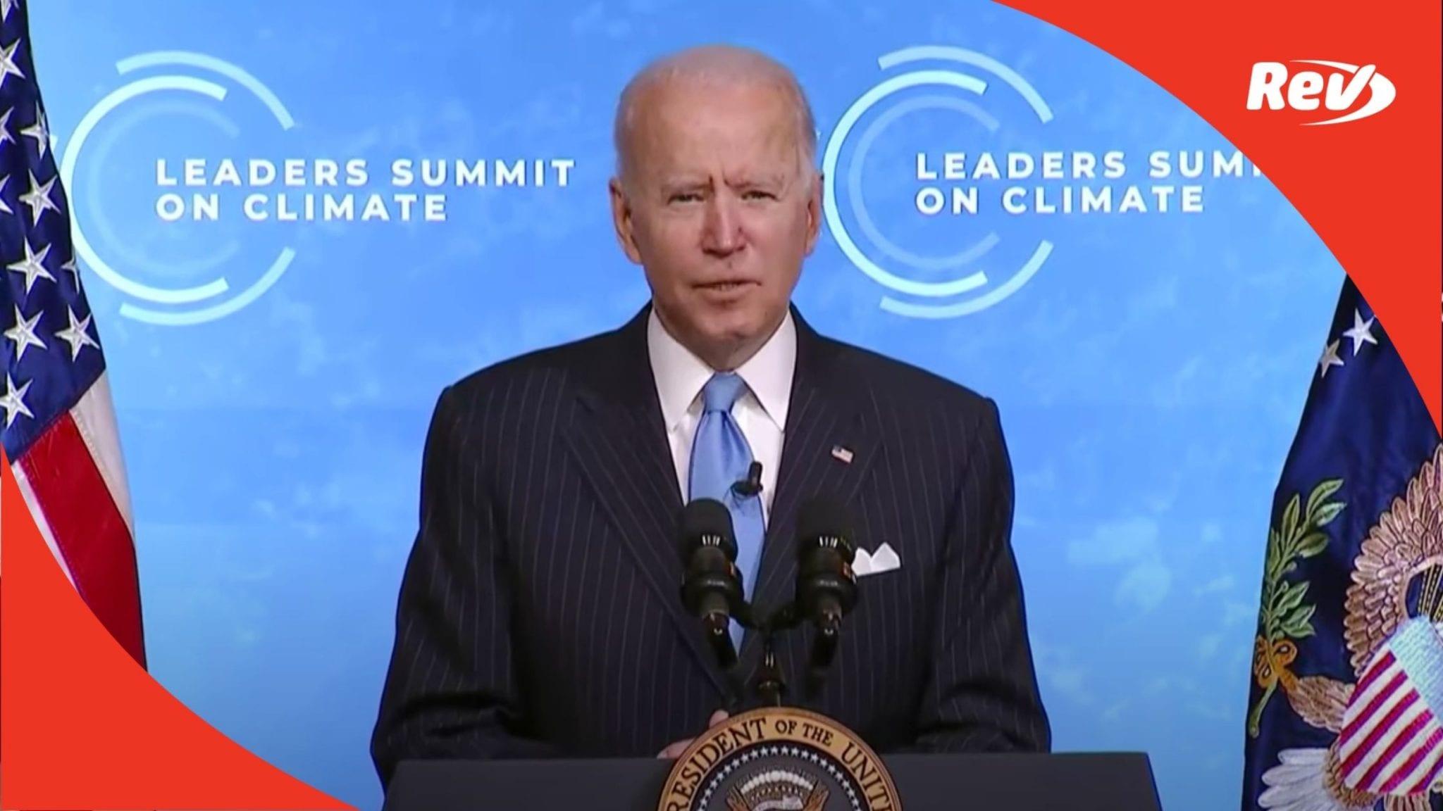 Joe Biden Speech Transcript April 23: Leaders Summit on Climate Day 2