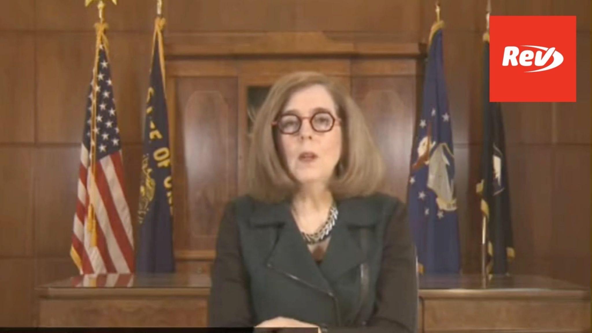 Oregon Governor Kate Brown COVID-19 Press Conference Transcript April 23