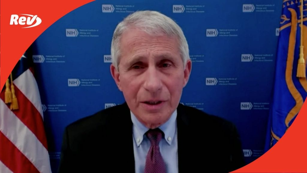 White House COVID-19 Task Force, Dr. Fauci Press Conference Transcript April 27: New CDC Mask Guidelines