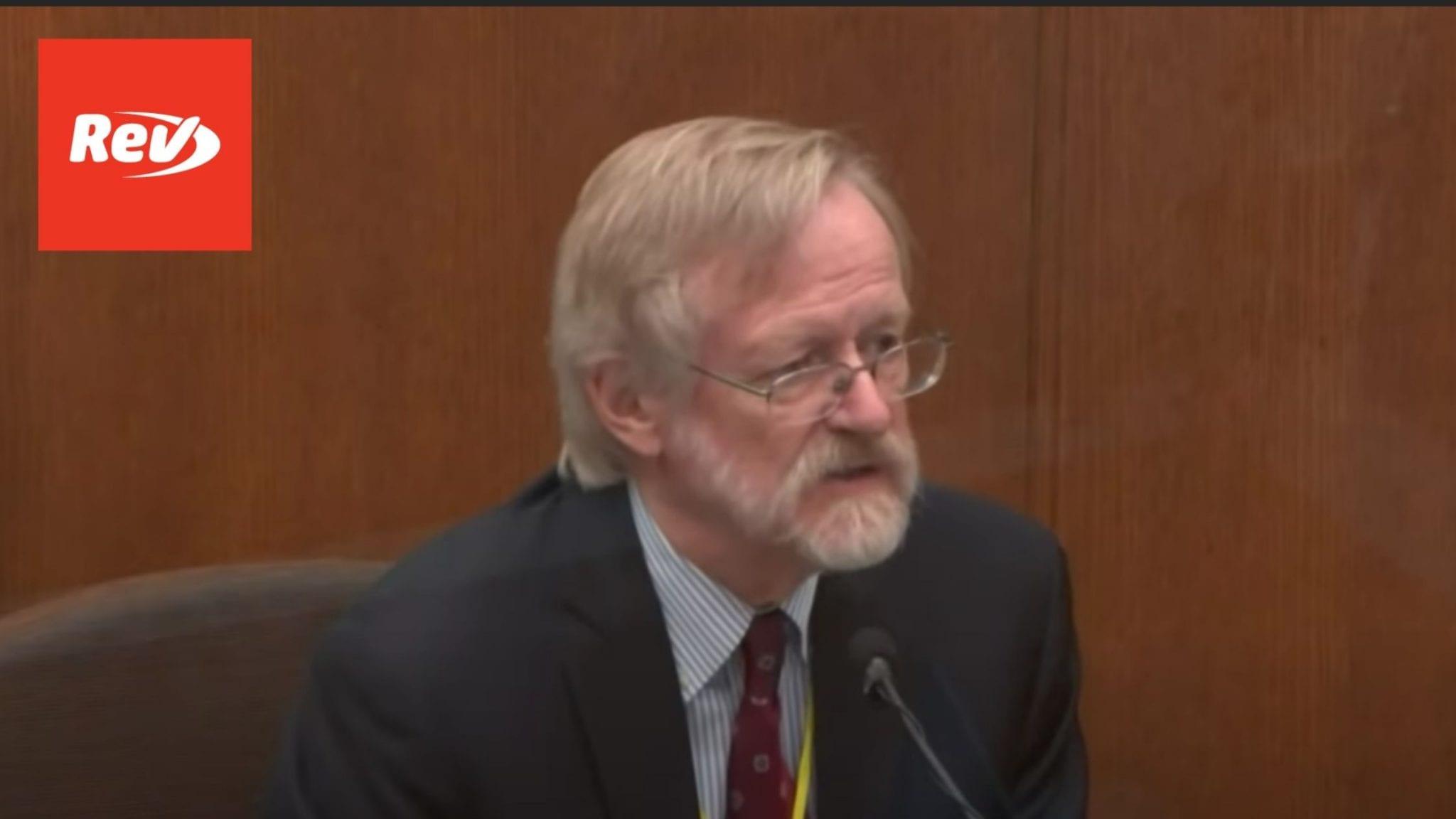 Pulmonologist Martin Tobin Testimony Derek Chauvin Trial Transcript: Floyd's Respiratory Rates
