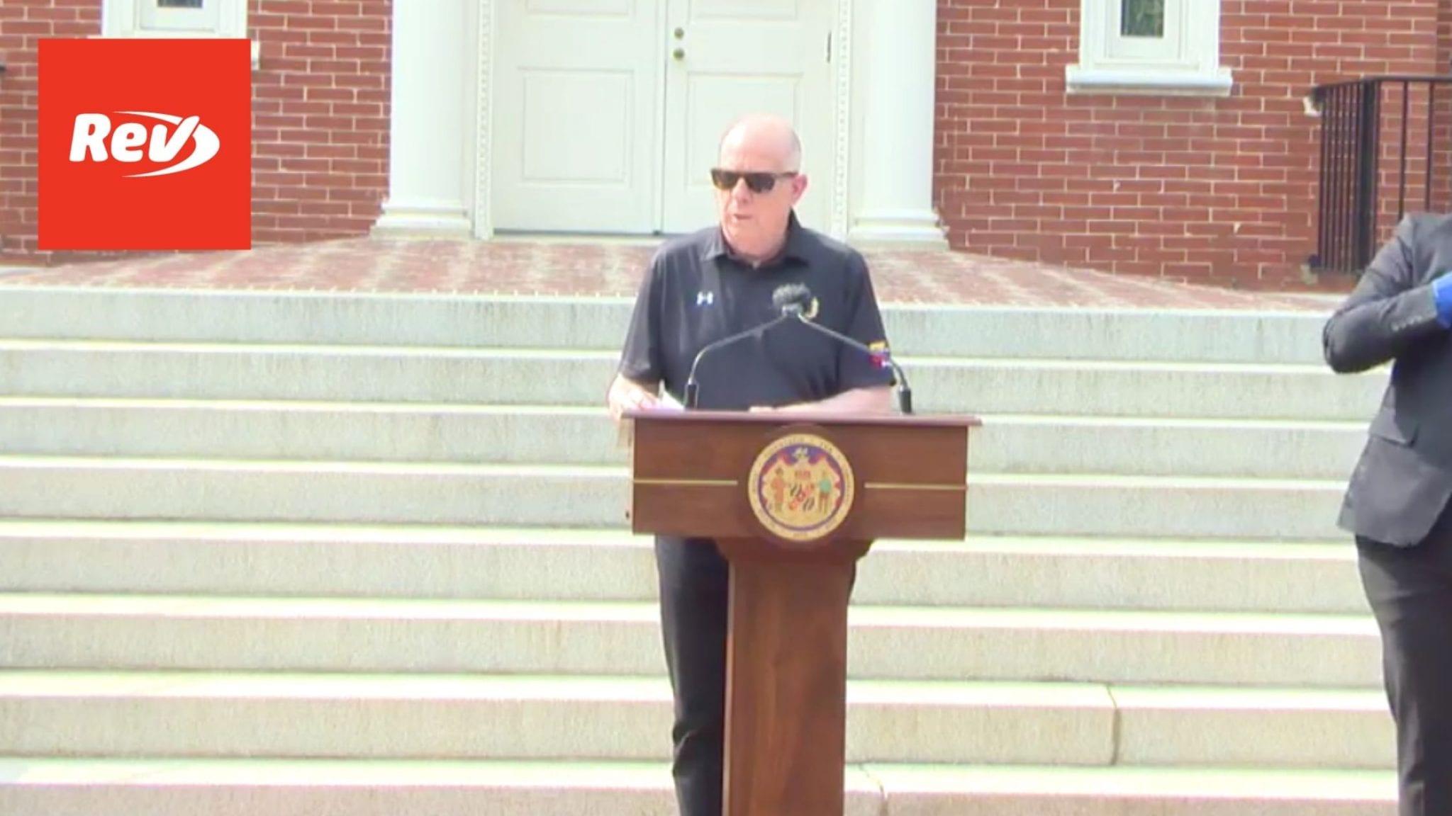 Maryland Gov. Larry Hogan COVID-19 Press Conference Transcript April 28