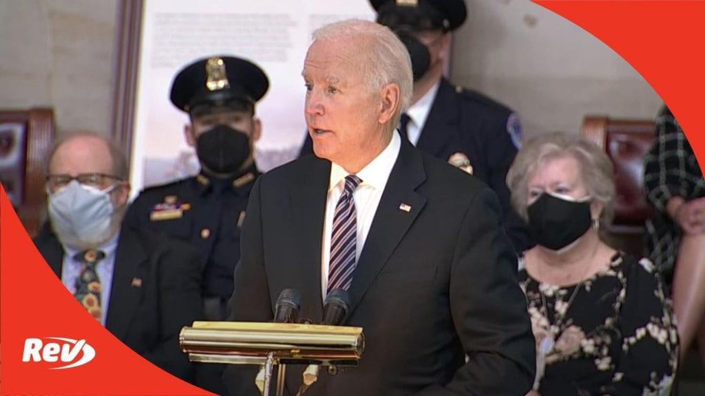 Joe Biden Eulogy Speech for Fallen Capitol Police Officer Billy Evans Transcript April 13