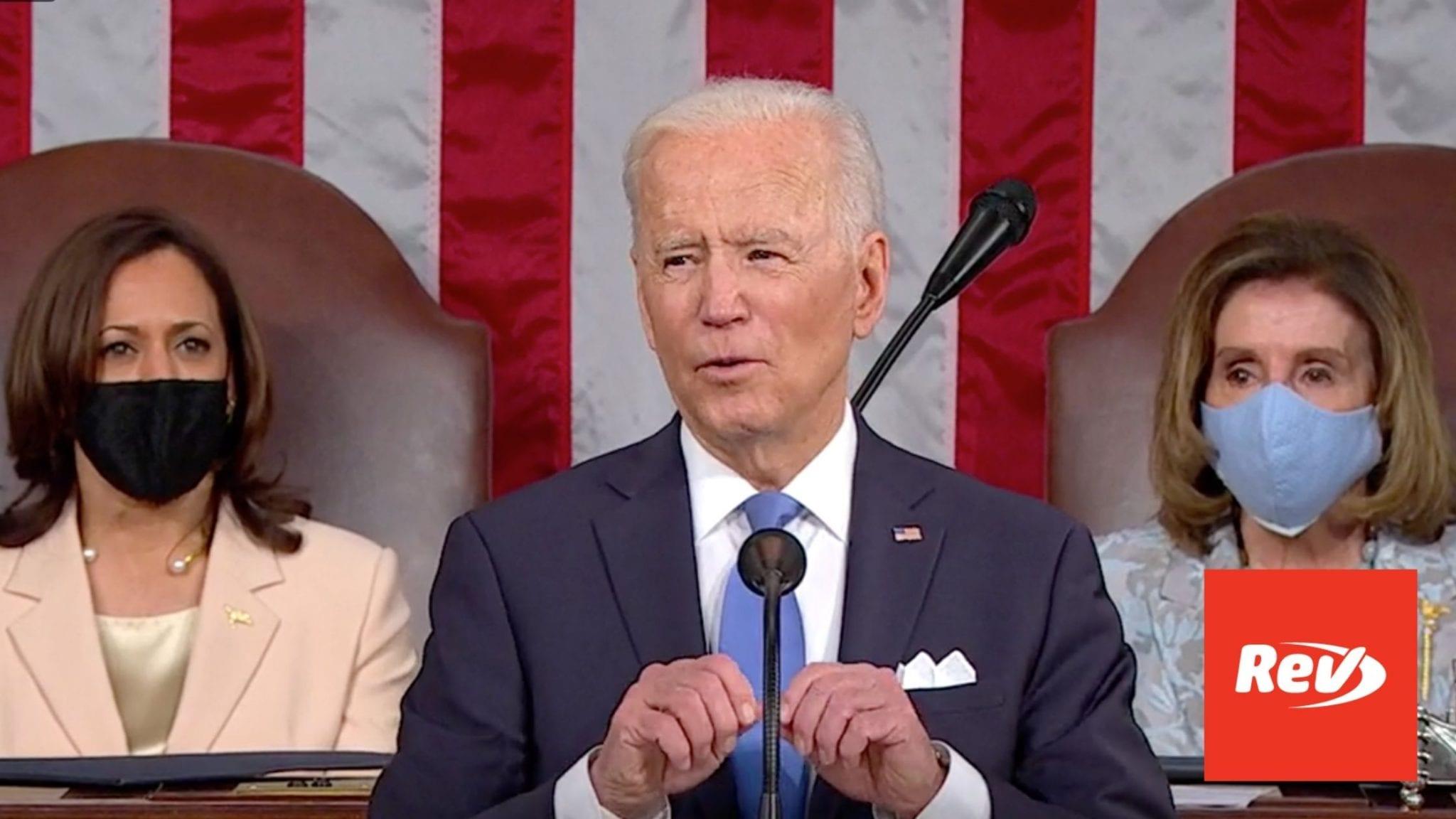 Joe Biden Address to Joint Session of Congress Speech Transcript