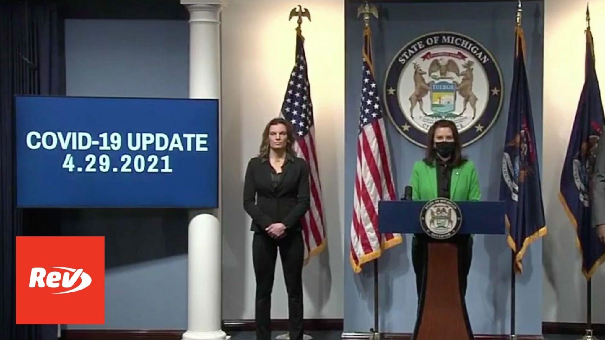 Michigan Governor Gretchen Whitmer COVID-19 Press Conference Transcript April 29
