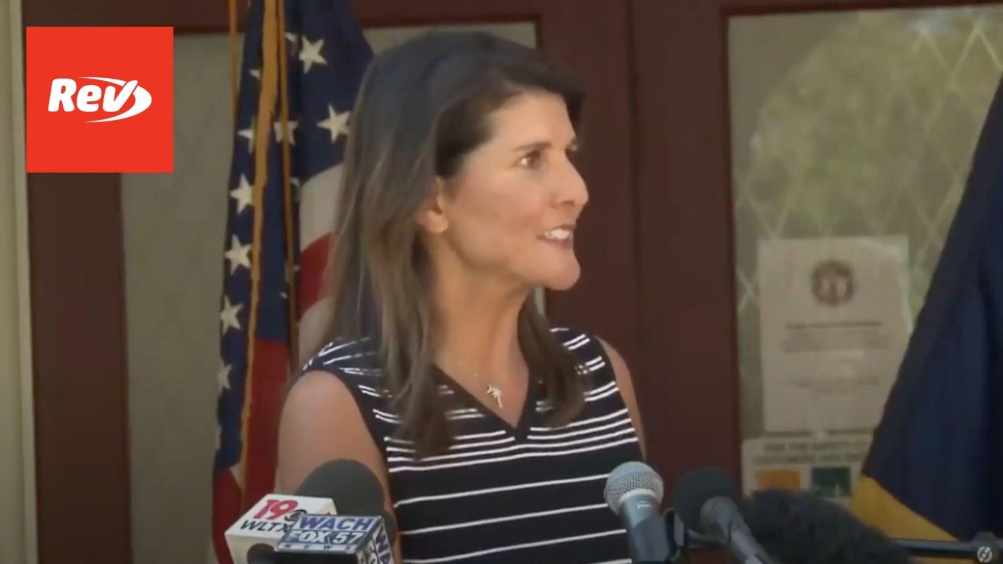 Nikki Haley Press Briefing Transcript April 12: Won't Run for President if Donald Trump Runs