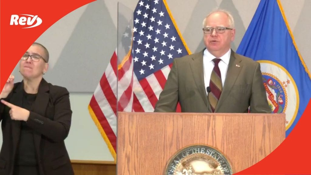 Minnesota Governor Tim Walz April 29 Press Conference Transcript: Calls on Senate for Police Reform