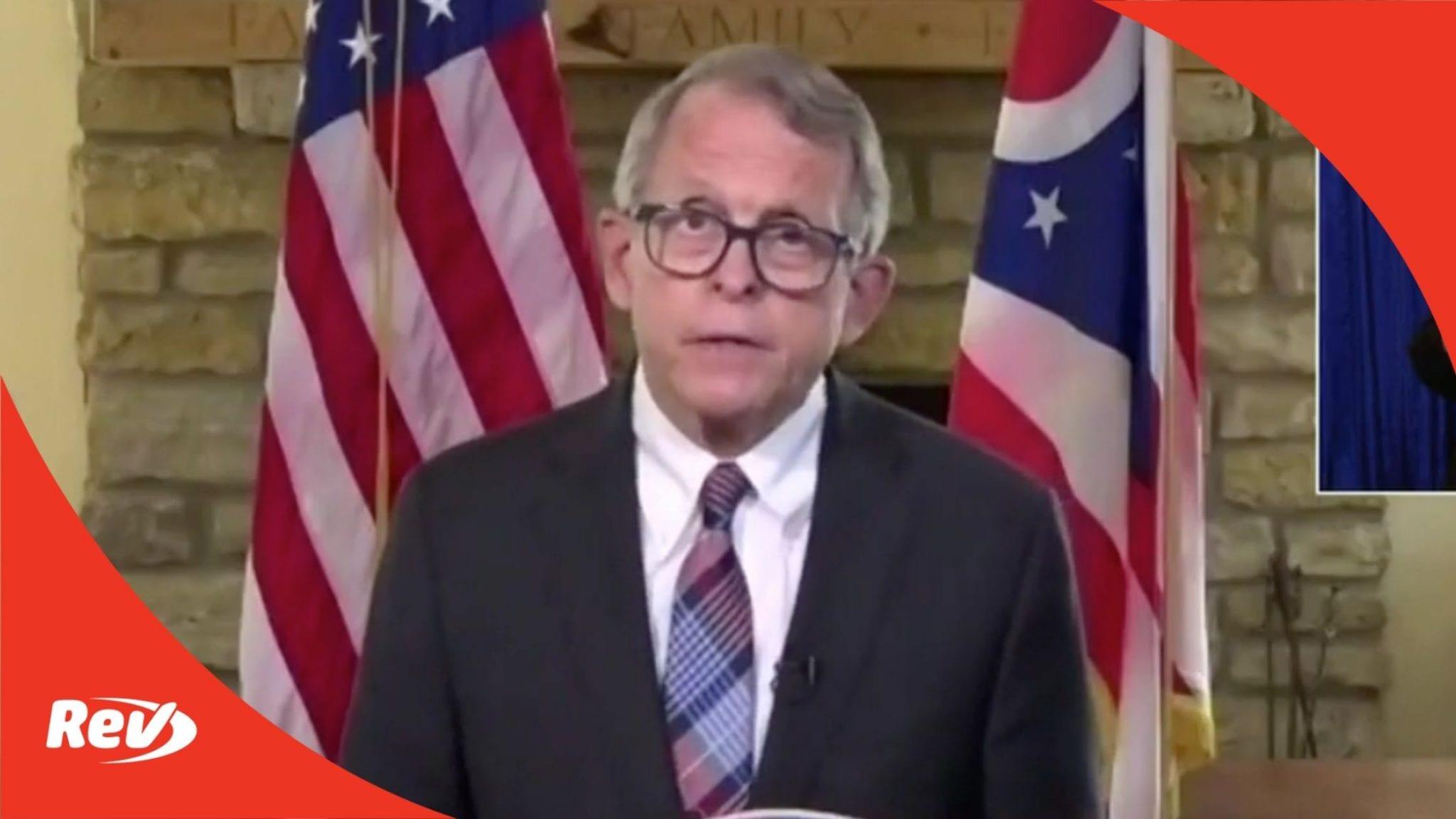 Ohio Gov. Mike DeWine COVID-19 Press Conference Transcript April 13: Pause on Johnson & Johnson Vaccine